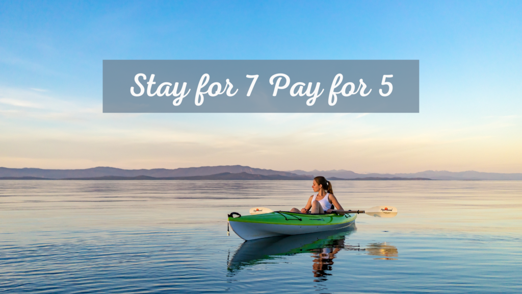 Stay for 7 pay for 5 qualicum landing